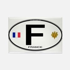 France Euro Oval Rectangle Magnet