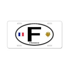 France Euro Oval Aluminum License Plate