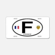 France Euro Oval Aluminum License Plate