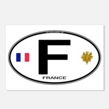 France Euro Oval Postcards (Package of 8)