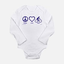 Cute Biking Long Sleeve Infant Bodysuit