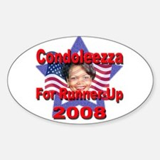 Condoleezza Rice For Runner-U Oval Decal