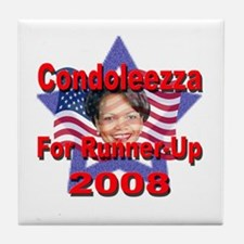 Condoleezza Rice For Runner-U Tile Coaster