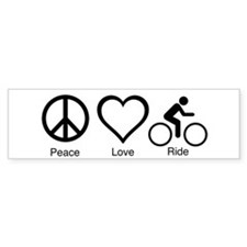 peace_love_ride_black_10_5x6_300dpi Bumper Bumper Sticker