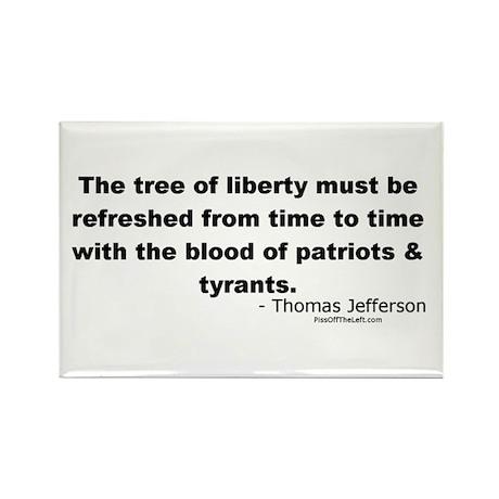 Jefferson: Tree of liberty Rectangle Magnet