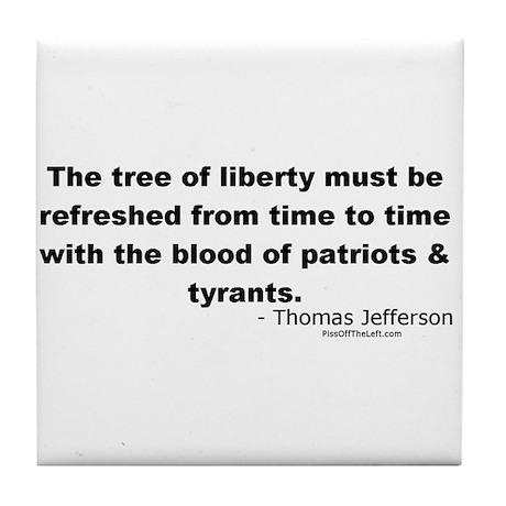 Jefferson: Tree of liberty Tile Coaster