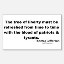 Jefferson: Tree of liberty Rectangle Decal