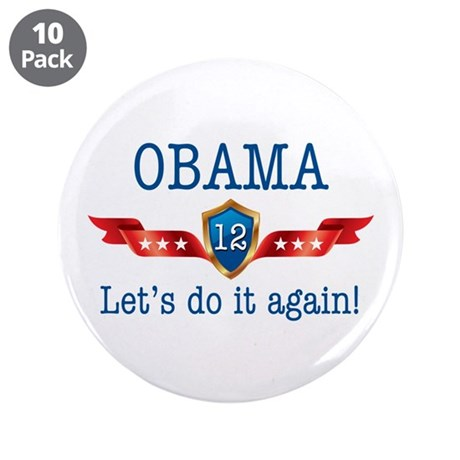 "Obama 2012 Do It Again 3.5"" Button (10 pack)"