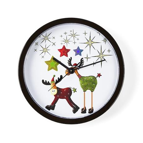 Star Moose Greetings Wall Clock