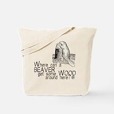 """""""Beaver/Wood"""" Tote Bag"""