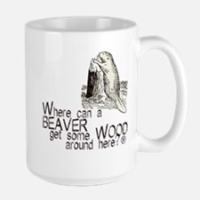 """""""Beaver/Wood"""" Large Mug"""