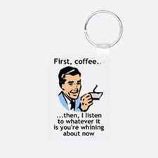Coffee First (Java, Caffeine) Keychains