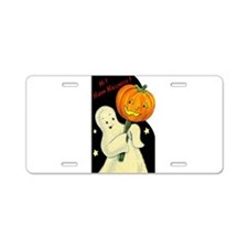 Halloween Ghost Aluminum License Plate