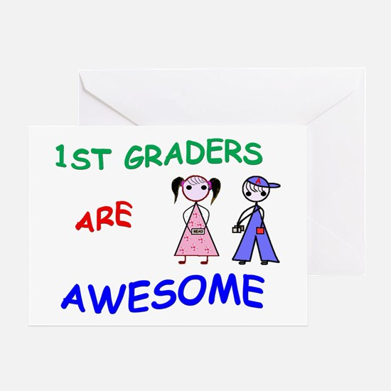 1ST GRADERS ARE AWESOME Greeting Card