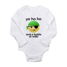 Pirate Bob: Yo Ho Ho Long Sleeve Infant Bodysuit