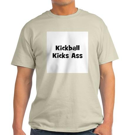 Kickball Kicks Ass Ash Grey T-Shirt