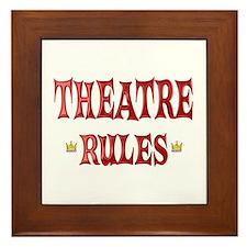 Theatre Rules Framed Tile