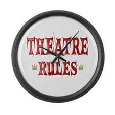 Theatre Rules Large Wall Clock