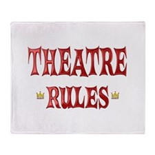 Theatre Rules Throw Blanket