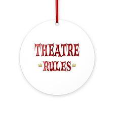 Theatre Rules Ornament (Round)