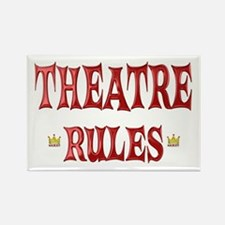 Theatre Rules Rectangle Magnet (100 pack)