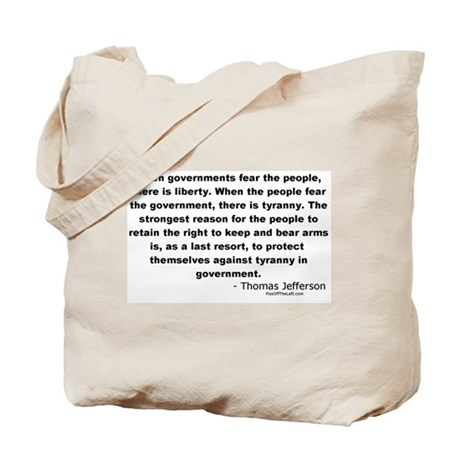 Jefferson: Fear the people Tote Bag