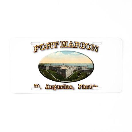 Fort Marion Aluminum License Plate