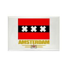 Amsterdam Flag Rectangle Magnet