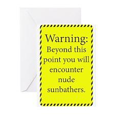 Nude Sunbathers Greeting Cards (Pk of 20)