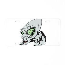 Funny Alien Aluminum License Plate
