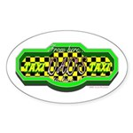 Dads Taxi Oval Sticker