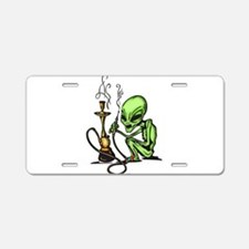 Alien and Water Pipe Aluminum License Plate