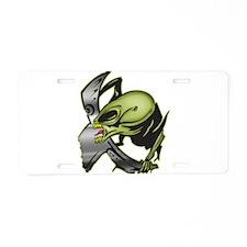 Alien Monster Invaders Aluminum License Plate