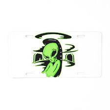 Alien UFO Pilot Aluminum License Plate