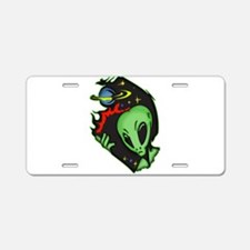Outer Space Alien Aluminum License Plate