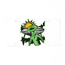 Alien UFO Aluminum License Plate