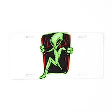 Alien Invades Your Home Aluminum License Plate