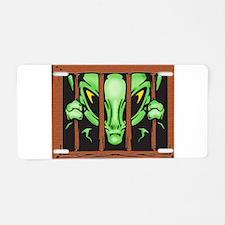 Alien Behind Bars Aluminum License Plate