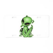 Alien Pet Aluminum License Plate