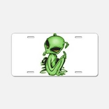 Alien Pet Aluminum License Plate
