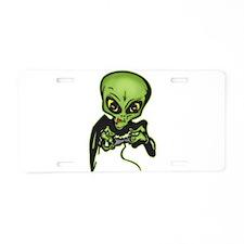 Alien Gamer Aluminum License Plate