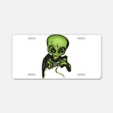 Alien Gamer Aluminum License Plate