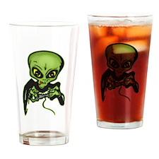 Alien Gamer Drinking Glass