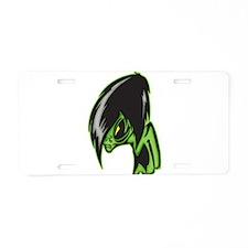 Aliens Gone Gothic Aluminum License Plate