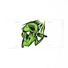 Aliens Invade The Karaoke Bar Aluminum License Pla