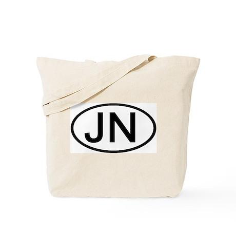 JN - Initial Oval Tote Bag