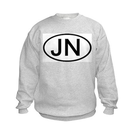 JN - Initial Oval Kids Sweatshirt