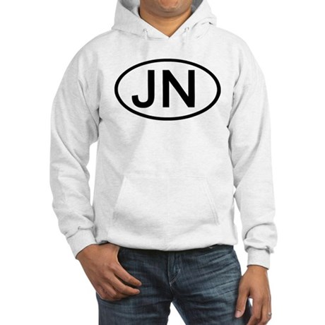 JN - Initial Oval Hooded Sweatshirt