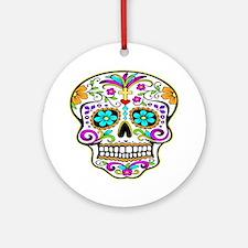 Tattoo Decorated Skull Ornament (Round)