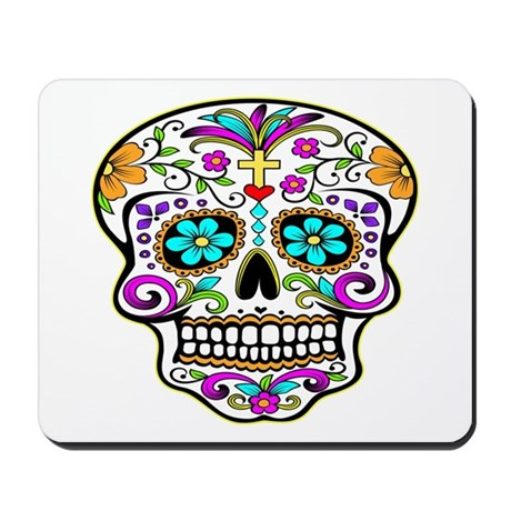 Day Of The Dead Skull 3 Mousepad